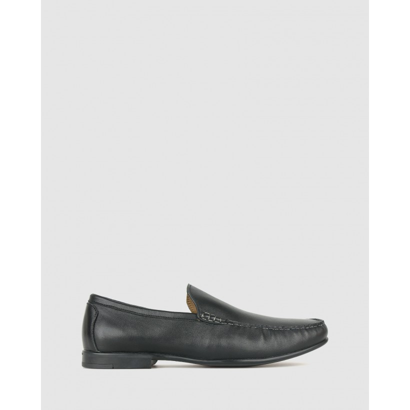 Vincent Leather Loafers Black by Airflex
