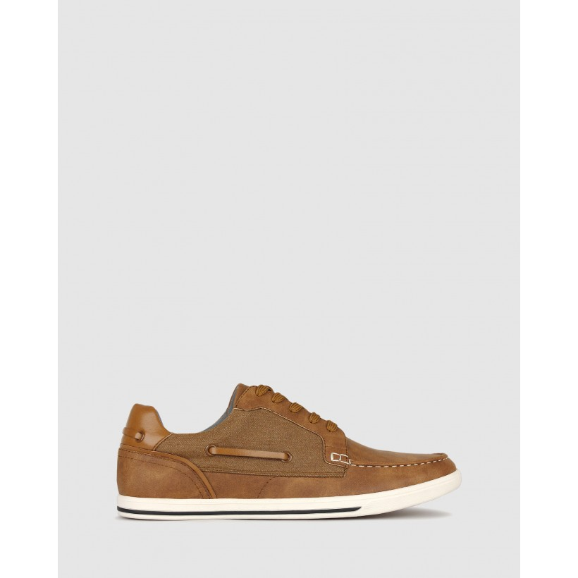 Visage Lifestyle Boat Shoes Tan by Betts