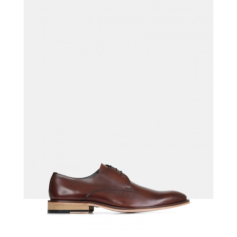 Wallis Leather Derby Conhaque Light Sole by Brando