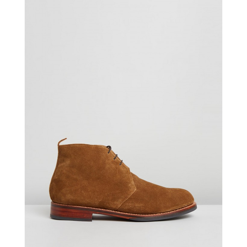Wendell Snuff Suede by Grenson