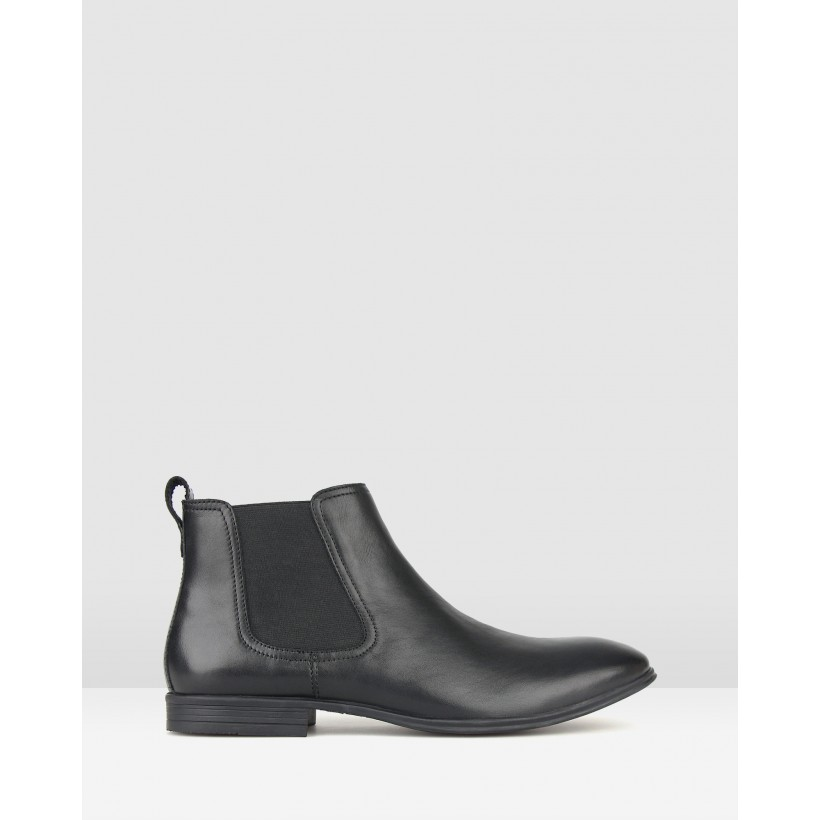 West Leather Chelsea Boots Black by Airflex