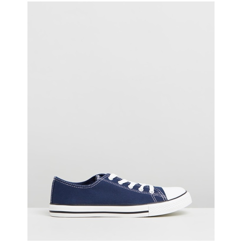 Wide Fit Icons Sneakers Navy by Dorothy Perkins