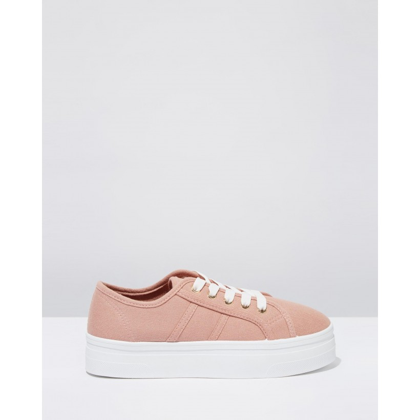 Willow Flatform Sneakers Ash Rose Canvas by Rubi