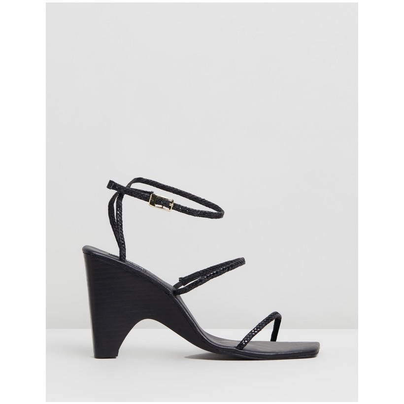Woven Wedges Black by Jaggar The Label