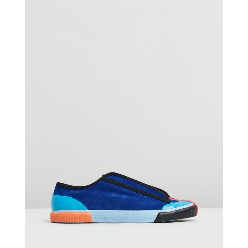 X Craig Green Sneakers Blue Suede Multi by Grenson