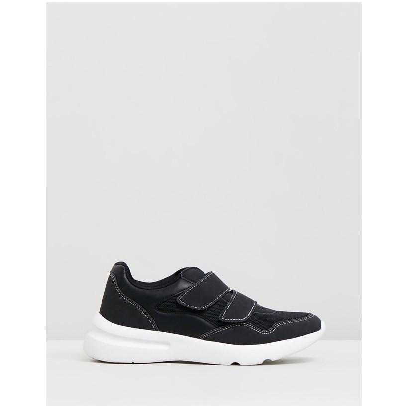 Zaya Strap Chunky Sneakers Black & White by Rubi