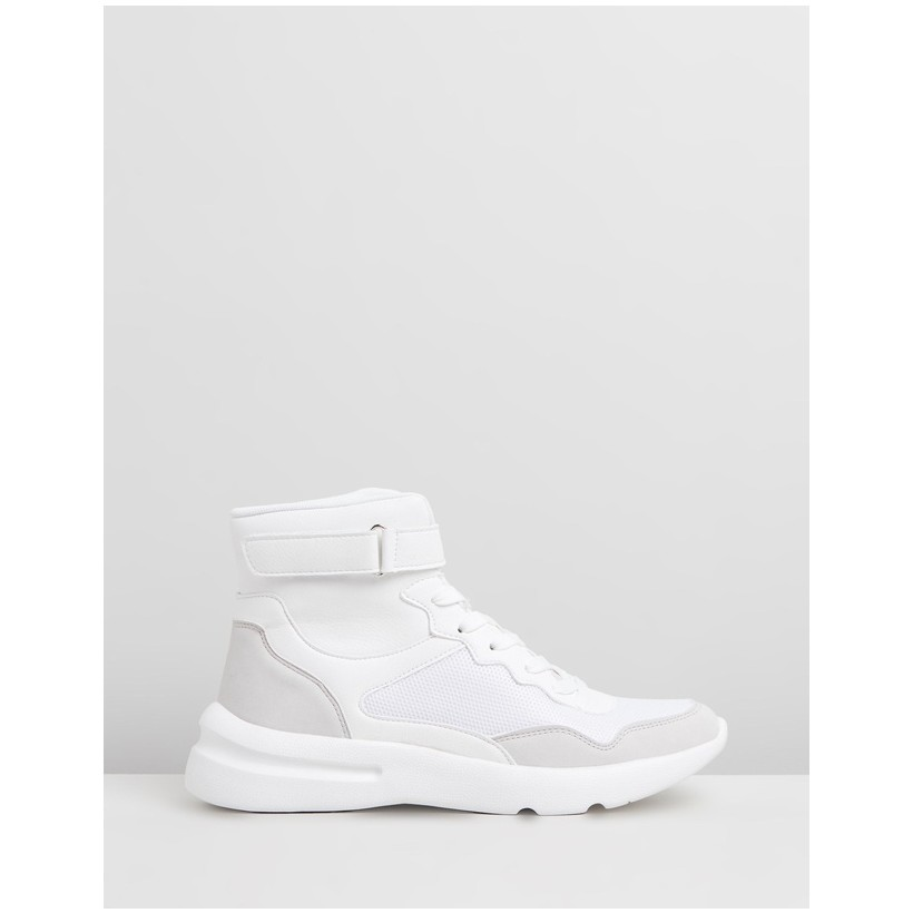 Zendaya High Top Sneakers White Tonal Multi by Rubi