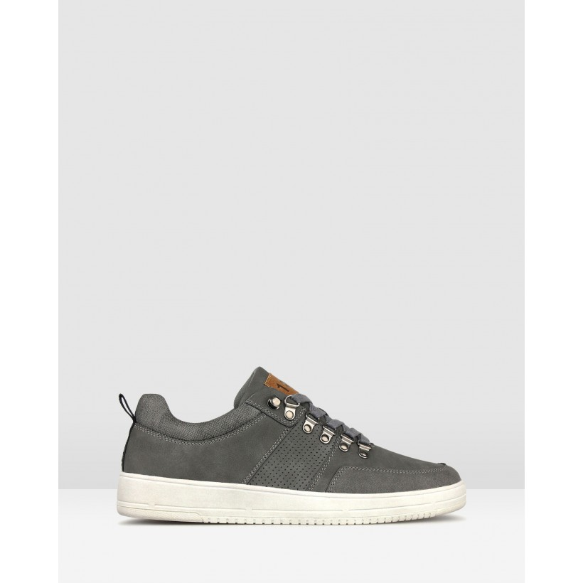 Zoom Low Top Lifestyle Sneakers Grey by Betts