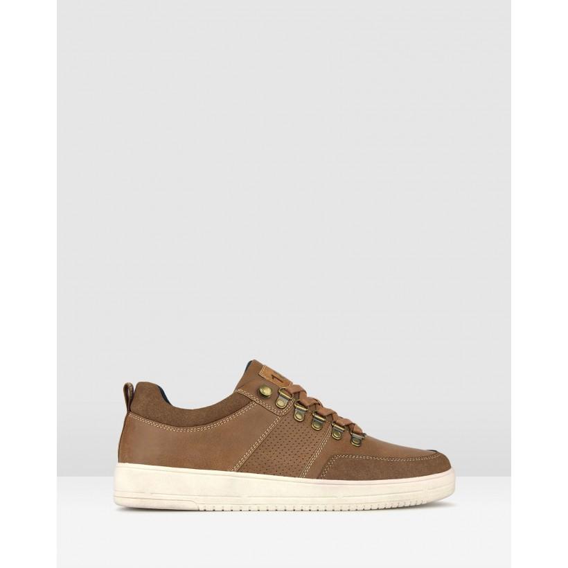 Zoom Low Top Lifestyle Sneakers Dark Brown by Betts
