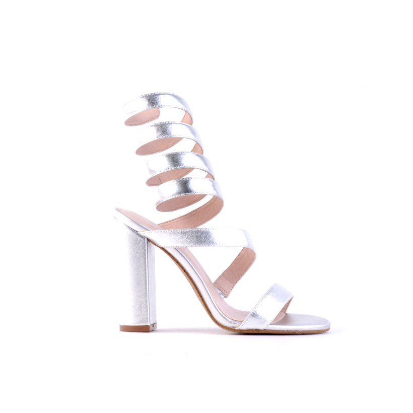 Katch - Silver Kid Leather by Siren Shoes