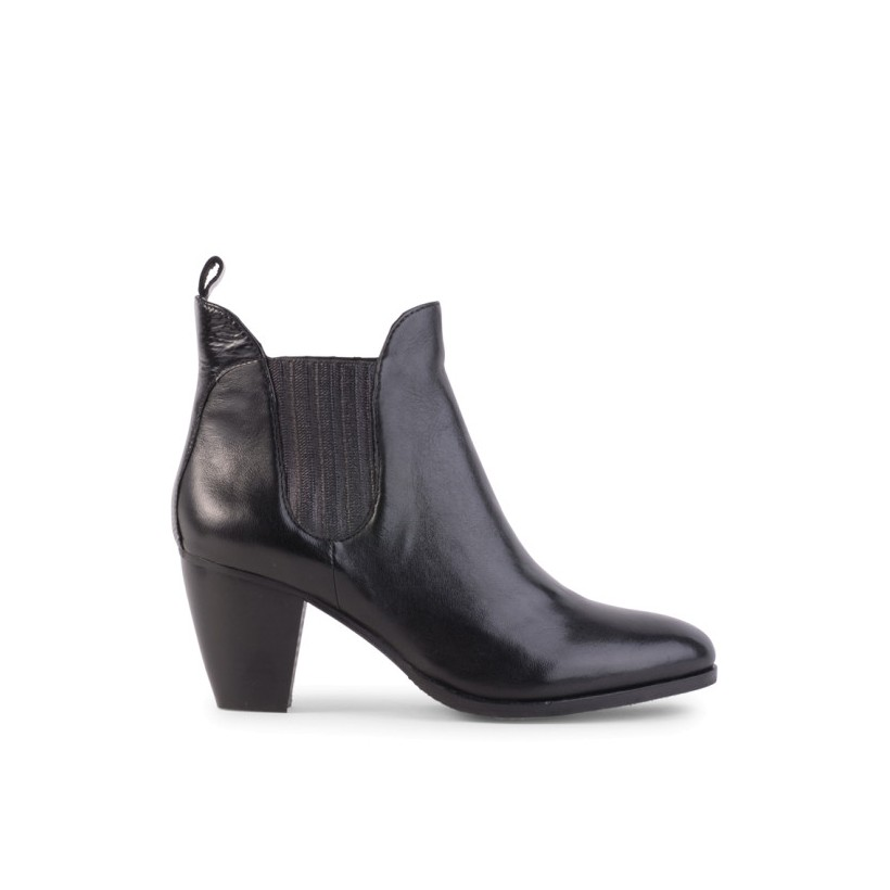 Lawrence - Black Leather by Siren Shoes