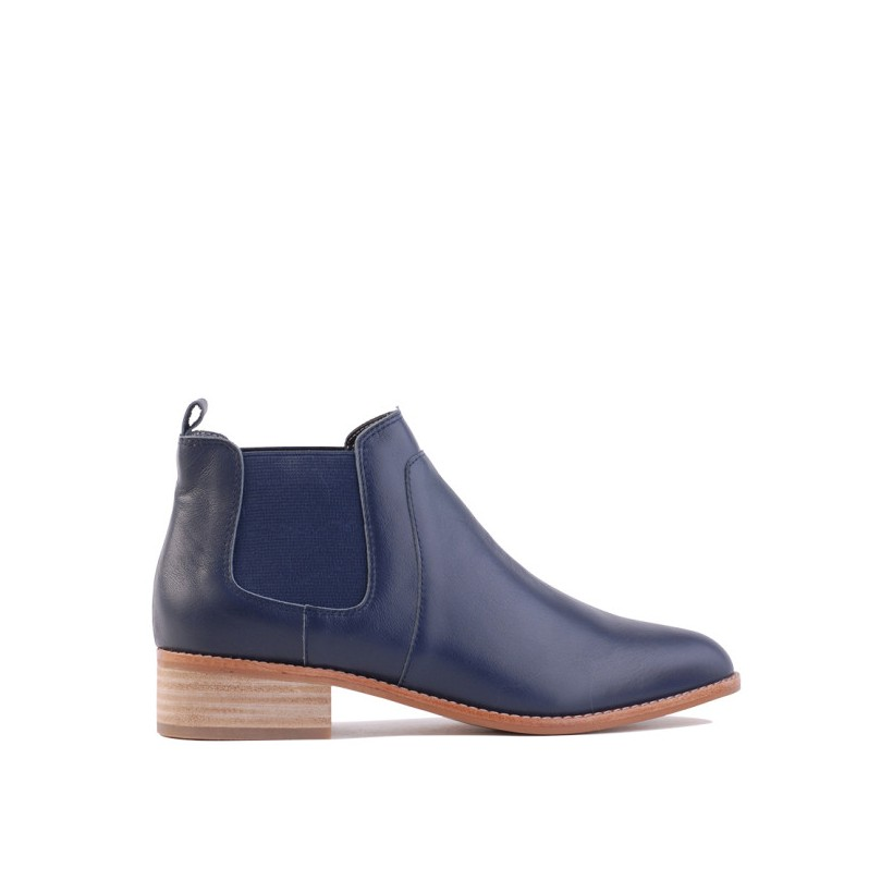 Lecia - Navy Leather by Siren Shoes