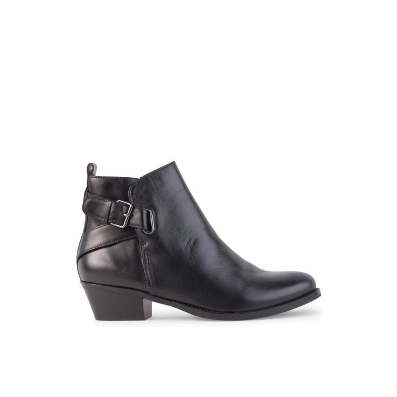 Lena - Black Leather by Siren Shoes