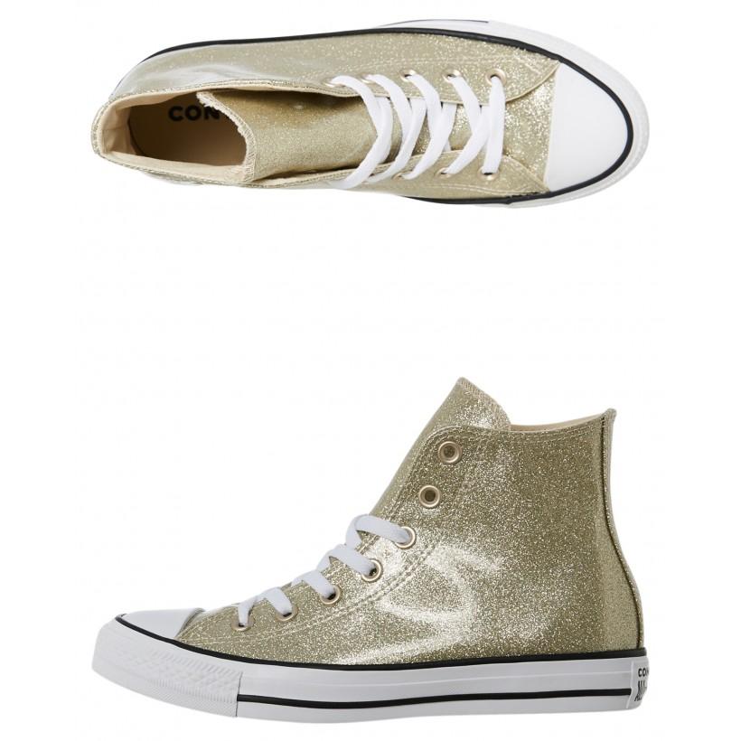 Womens Chuck Taylor All Star Wonderworld Hi Shoe Light Gold By CONVERSE