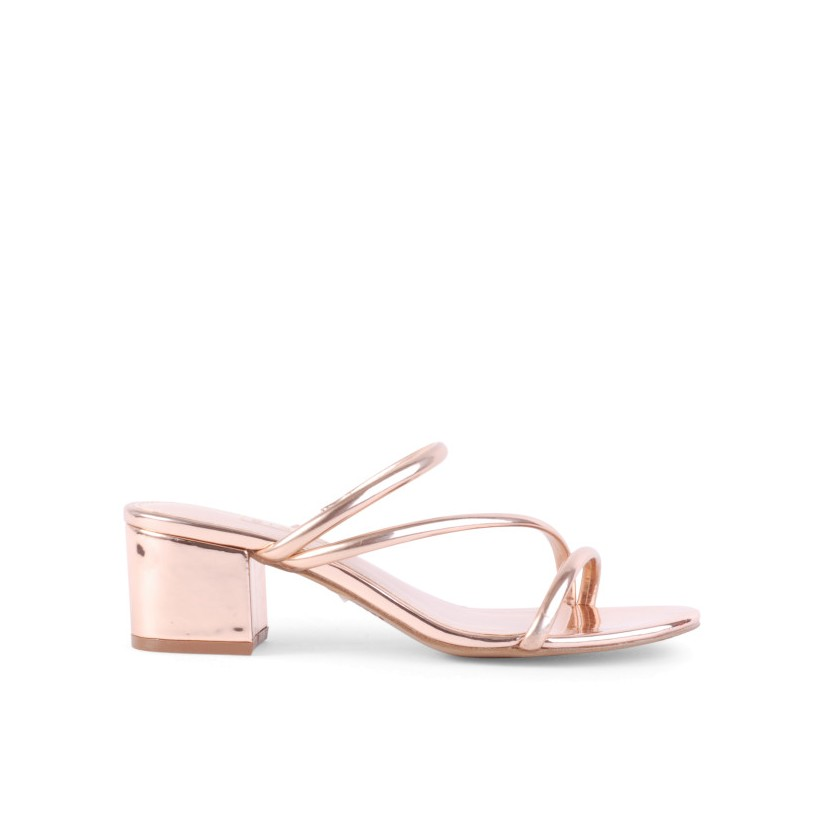 Neecey - Rose Gold Mirror by Siren Shoes