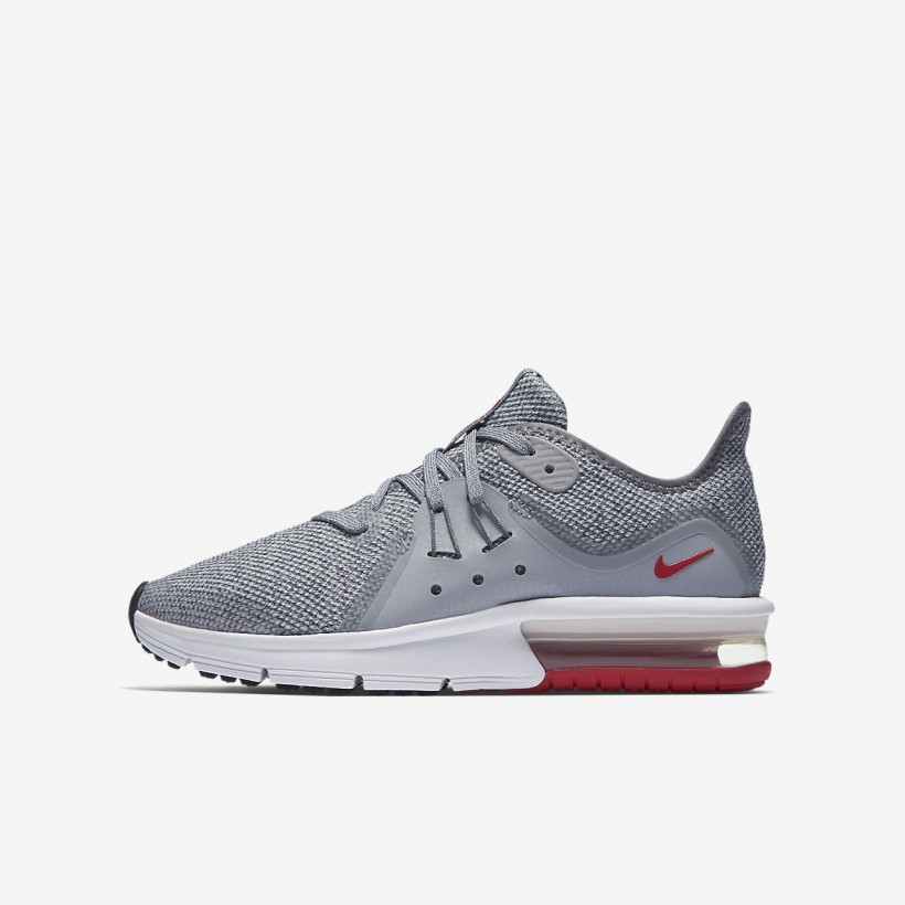 CoolGrey/MetallicSilver/White/UniversityRed - Nike Air Max Sequent 3
