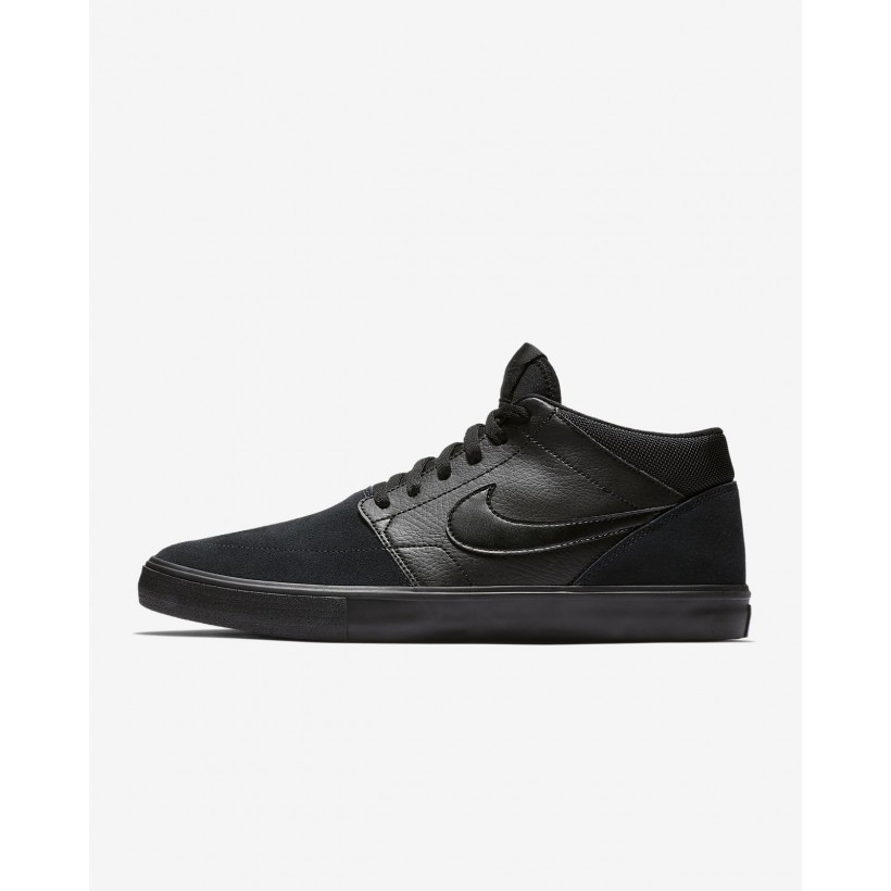 Black/Black/Anthracite/Black - Nike SB Solarsoft Portmore II Mid