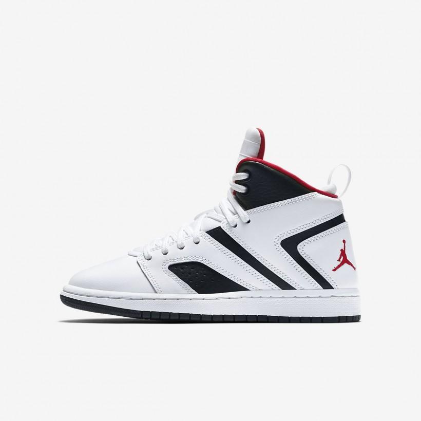 White/Black/GymRed - Jordan Flight Legend