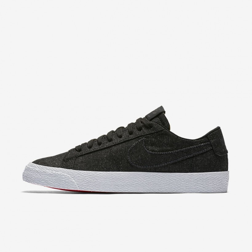 Black/Anthracite/Black - Nike SB Zoom Blazer Low Canvas Deconstructed