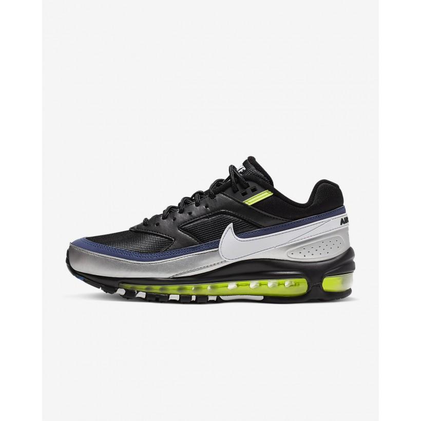 Black/MetallicSilver/AtlanticBlue/White - Nike Air Max 97/BW