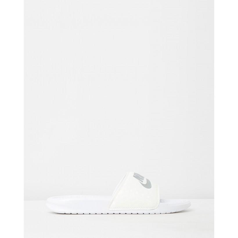 Benassi JDI Slides - Women's White by Nike