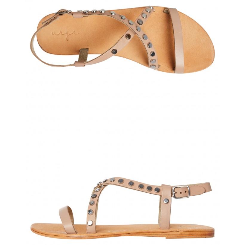 Sailor Leather Sandal Nude By URGE
