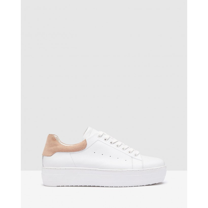 Cara Sneakers White/Blush by Oxford
