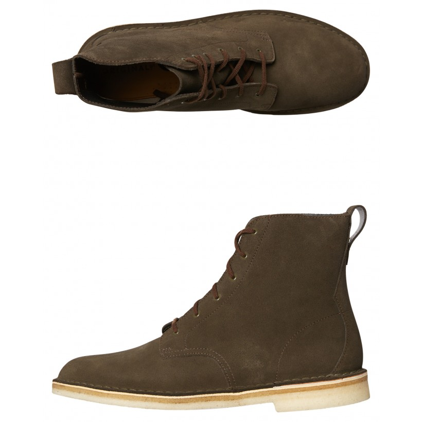 Mens Desert Mali Suede Boot Peat By CLARKS ORIGINALS