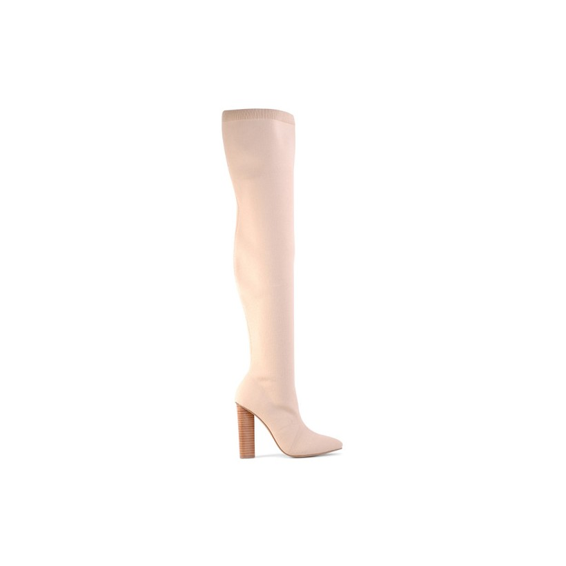 Pharoah - Nude Stretch Knit by Siren Shoes
