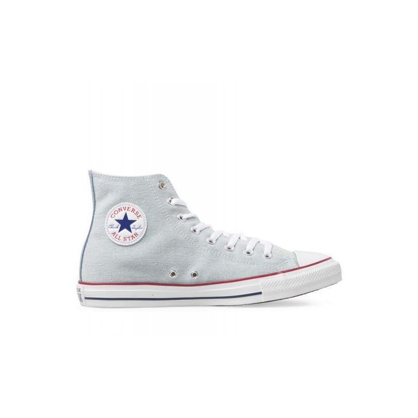b1325cff7e25c6 Chuck Taylor All Star Denim Hi Light Blue White Brown
