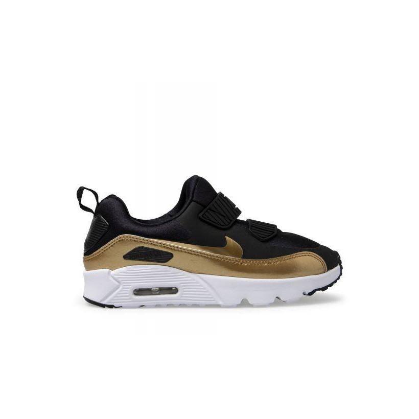 Kids Air Max Tiny 90 Black/Metallic Gold-White