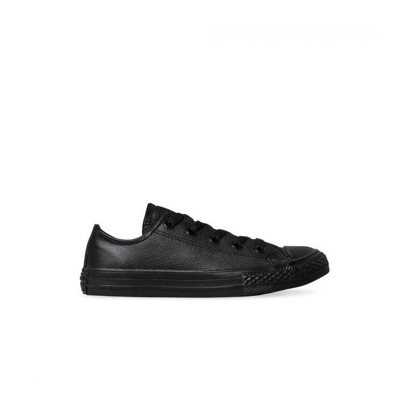 KIDS CT ALL STAR LEATHER LO BLACK