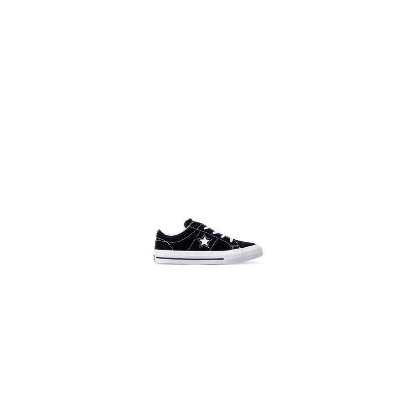 Kids One Star OX Black/White/White