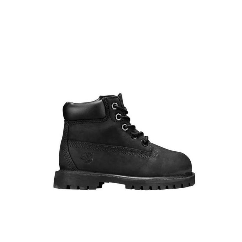 Kids Toddler 6-Inch Premium Waterproof Boots Black Nubuck