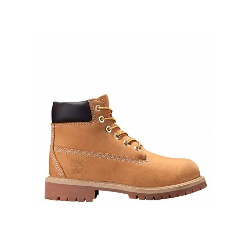 Kids Youth 6-Inch Premium Boot Wheat Nubuck