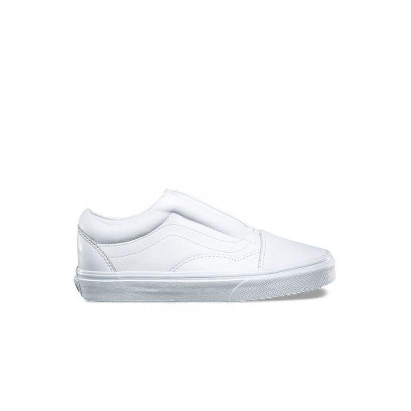 Vans Old Skool Laceles (Leather) True White Magasin De Sortie De Qualité Visiter Le Nouveau En Ligne Vente En Gros Prix Pas Cher jh7wmmxJ