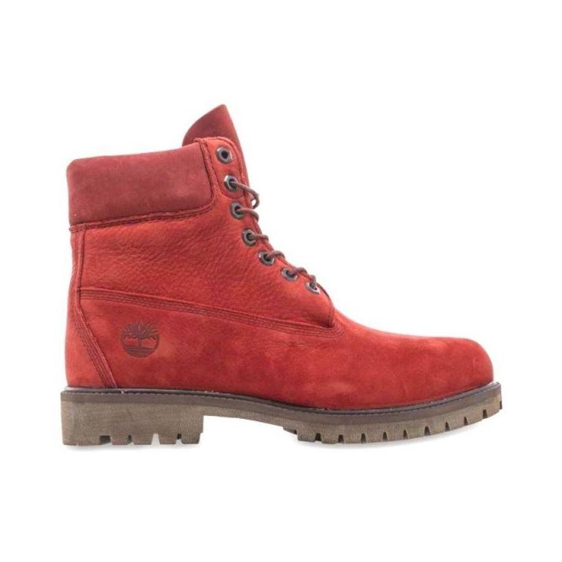 Men's Timberland? Heritage 6-Inch Waterproof Boots Dark Red Nubuck
