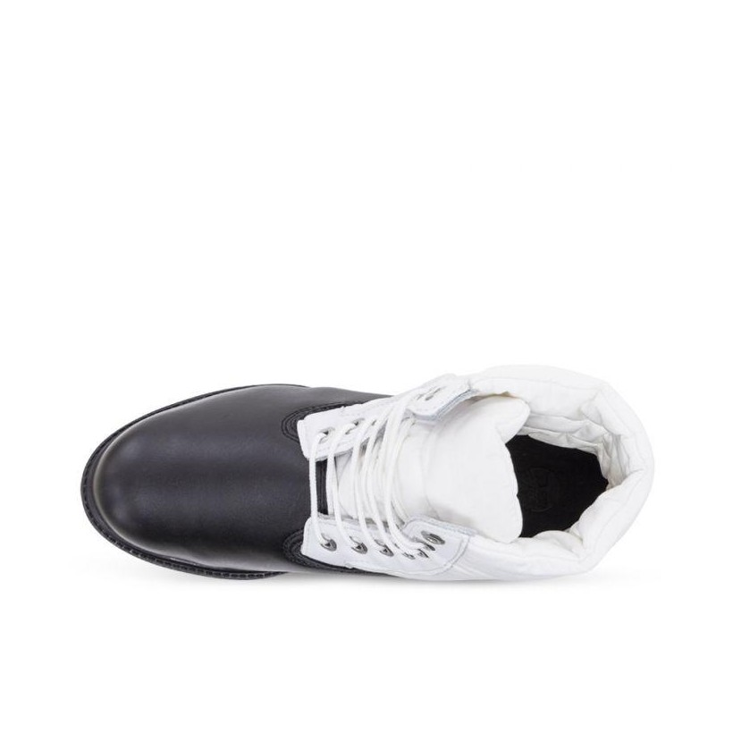 Mens 6 Inch Premium Puffer Boot Black Nubuck