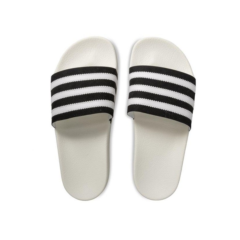 MENS ADILETTE SLIDES CORE BLACK/FTW WHITE/OFF WHITE