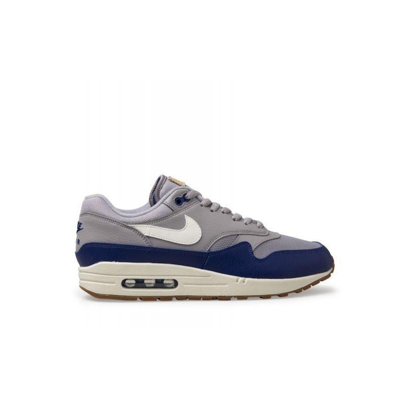 best cheap 116f1 f51c6 Atmosphere Grey Sail-Deep Royal Blue Mens Air Max 1 by Nike   ShoeSales
