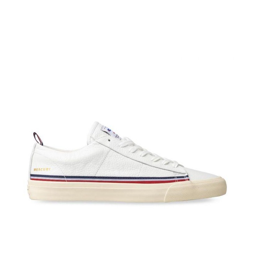 Mens Mercury Low Leather White