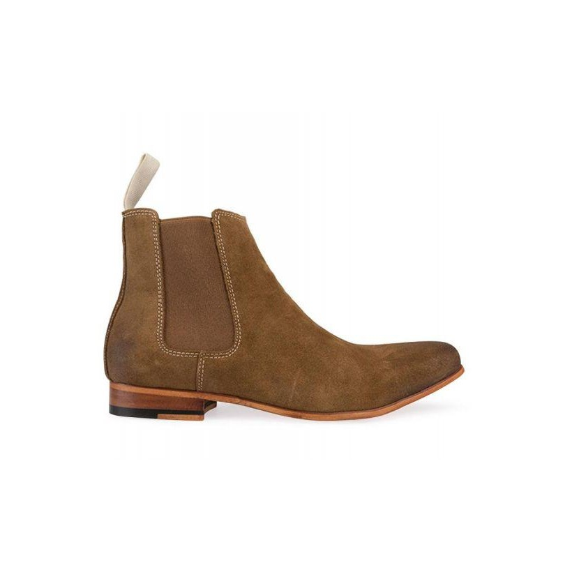 Mens Viper Chelsea Boot Worn Tan (Suede)