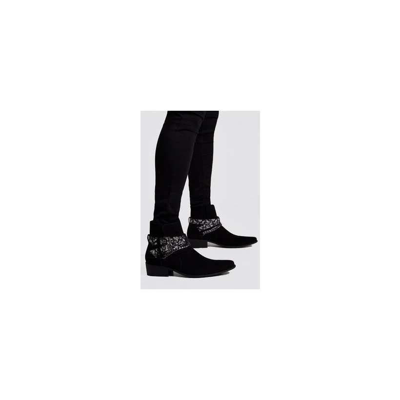 Bandana Chelsea Boot in Black