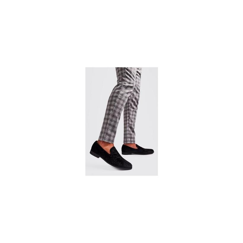Velvet Formal Shoes in Black
