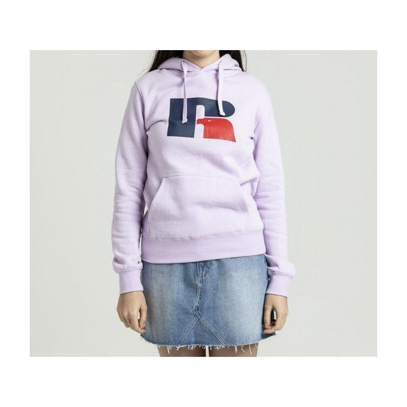 Womens Athletic Logo Hoodie Lupin Lilac