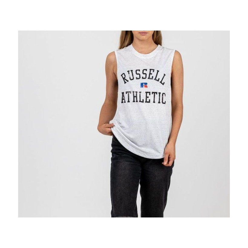 Womens Athletic Logo Muscle Seeded Ash
