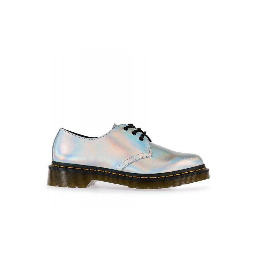 Womens Iced Metallic 1461 Silver Lazer