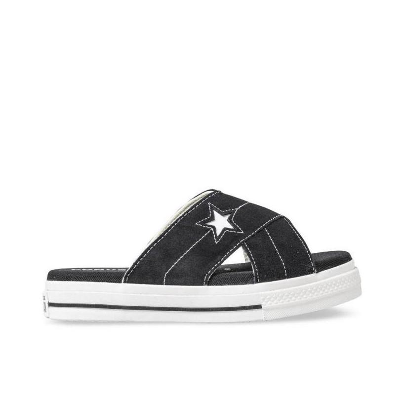 Womens One Star Sandal Black/Egret/White