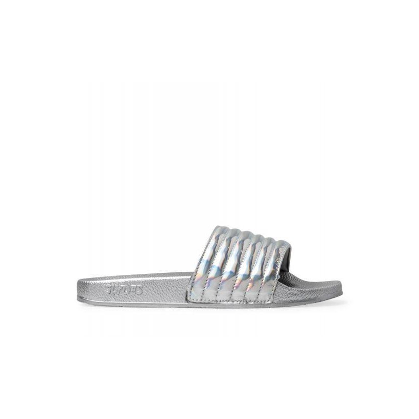 Womens Port Hi Shine Slides Iridescent