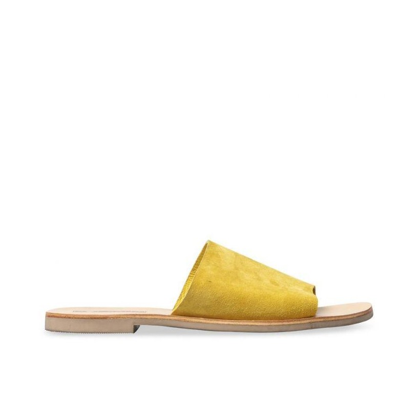 WOMENS TERESA SLIDE LEMON
